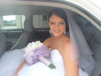 Donna's Purple & White Roses with Purple Tulle