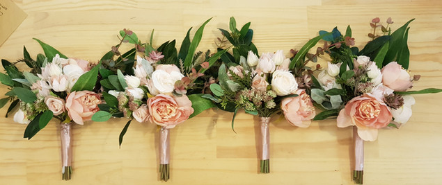 BOUQUET Stoncrop Dusty Pink Peonies and