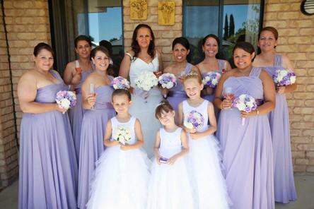 Rhoda's Purple & White  Roses