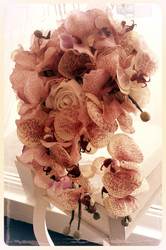 Holly's Japanese Theme Pink Orchids & Roses Mini Callas & Rosebuds