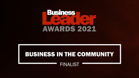 SHORTLISTED FOR BUSINESS IN THE COMMUNITY AWARD