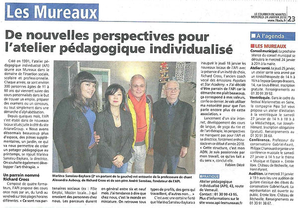 Article le courrier de mantes Richard Cr
