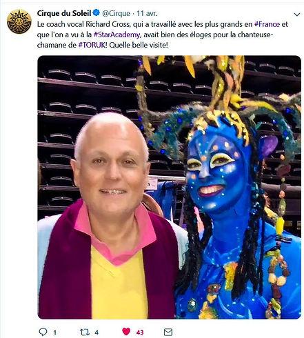 Cirque du soleil avec l'Ecole Richard cr