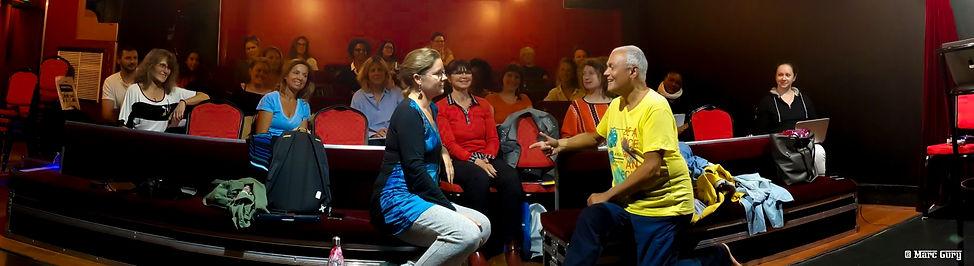 Richard Cross en cours avec Sérerine Parent