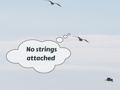 """""""No strings attached!"""" - Isn't that music to every man's ears?"""