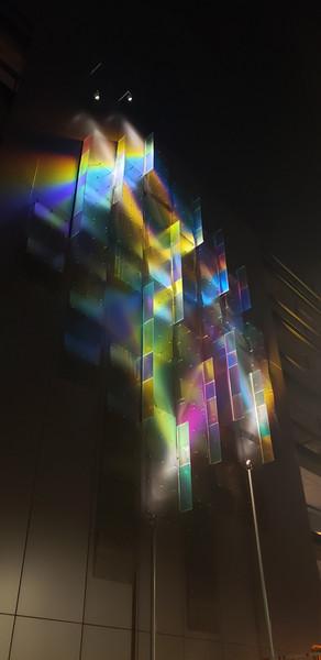 Facebook Campus Wall - Night Light Detail