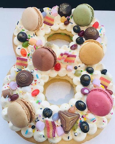 Cream Tart - Single Number cake