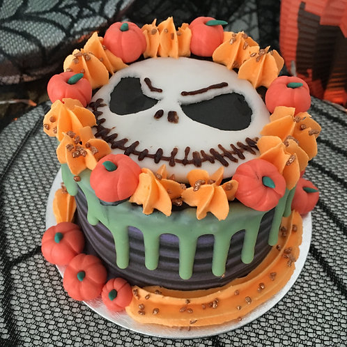 Jack S. themed cake 4 inches