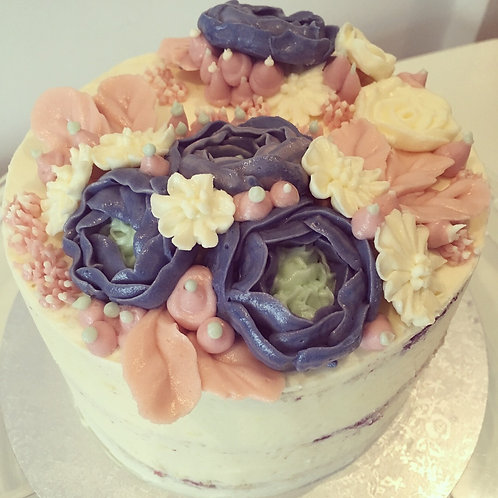 Naked floral cake - 6 inch