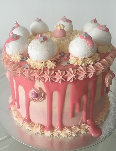 Baby shower - Ombré cake  6 inch