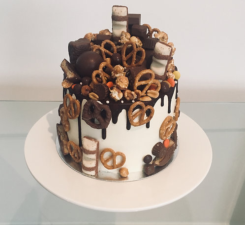 Overloaded chocolate cake 6 inches