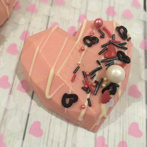 6 Geo Cake Hearts