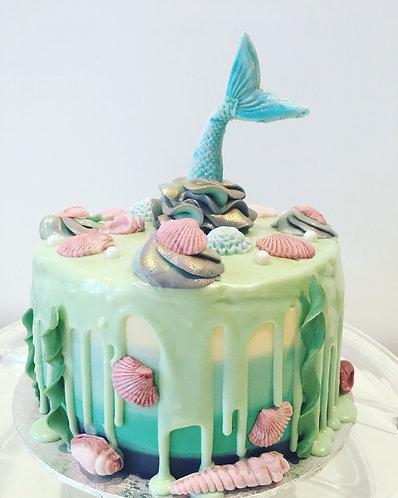 Mermaid cake - 6 inch