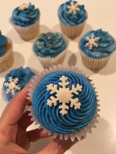 Snowflake cupcakes - box of 12