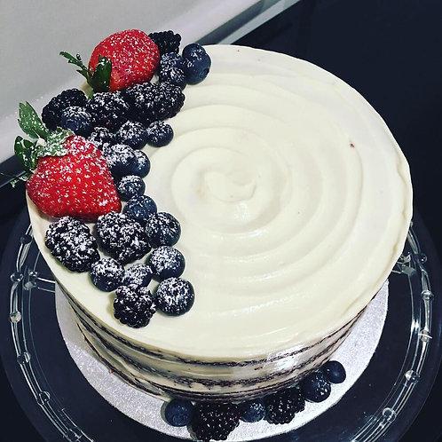 Naked Red Velvet Cake 8 inches