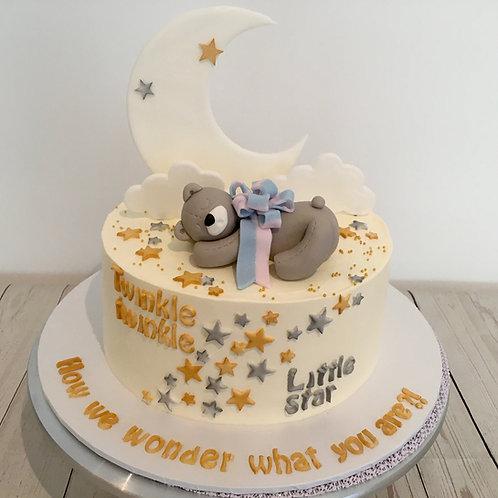 Twinkle twinkle little star cake - 8 inch