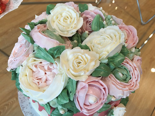 Bouquet cake - 8 inches