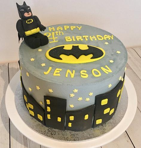 Batman themed cake 8 inches