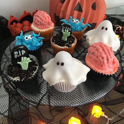 Halloween cupcakes box of 6