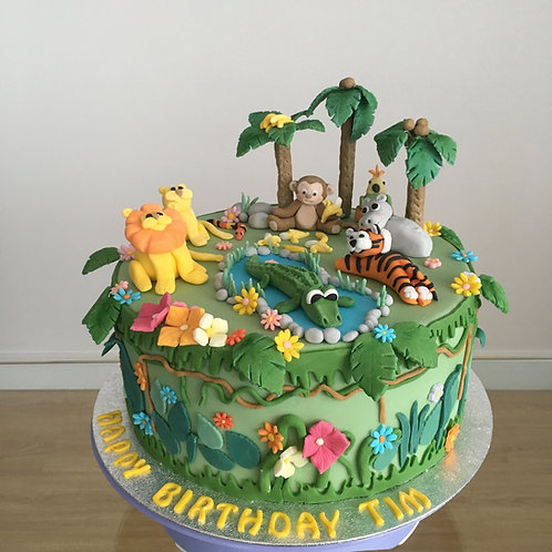 Jungle themed cake - 10 inches