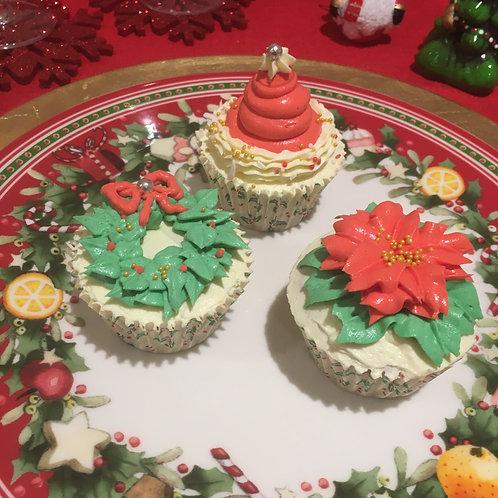 Festive cupcakes - box of 12