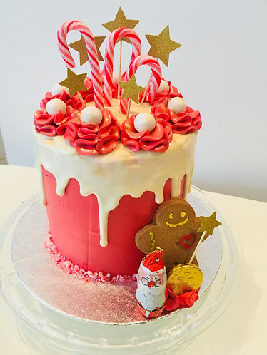 Candy Canes Cake - 6 inch