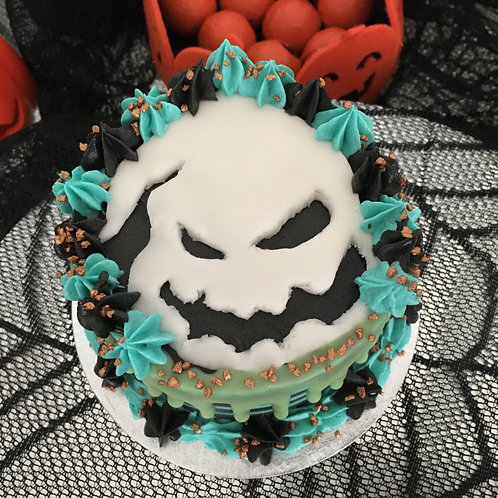Oogie Boogie themed cake 4 inches