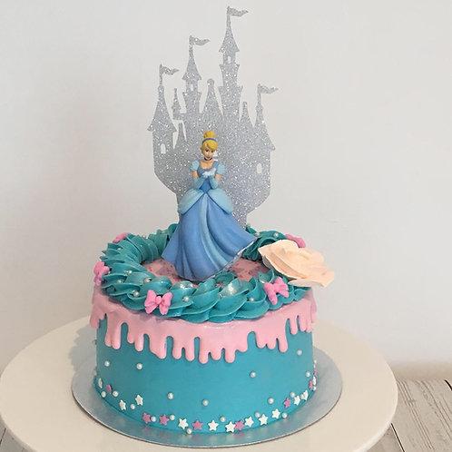Princess birthday cake - 6 inches