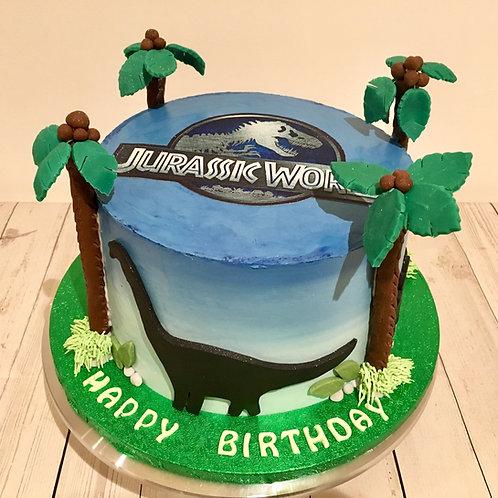 Dinosaur birthday cake 8 inches