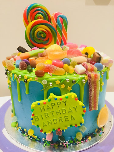 Candy  cake - 6 inches