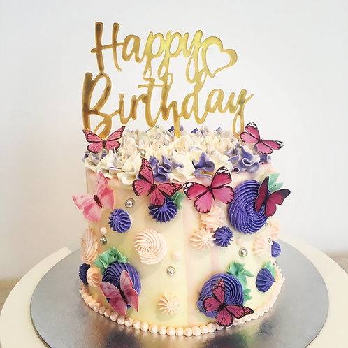 Happy Butterflies cake 6 inch