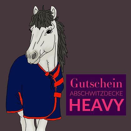 Gutschein Abschwitzdecke HEAVY
