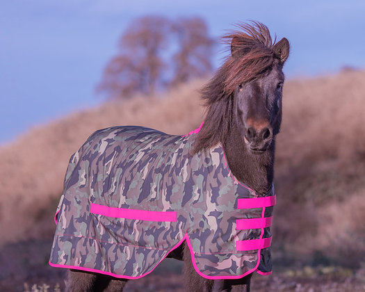 Regendecke Softshell Camouflage|Pink