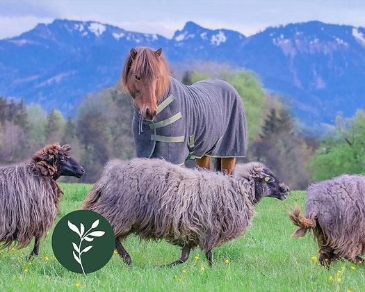 Abschwitzdecke Wolle BAVARIA Gneis|Zirbe