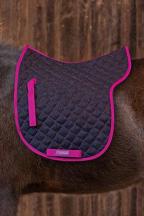 Satteldecke 100% Wolle Anthrazit|Pink