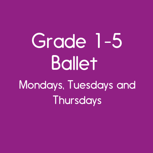 Grade 1 - 5 ballet with Charters Dance