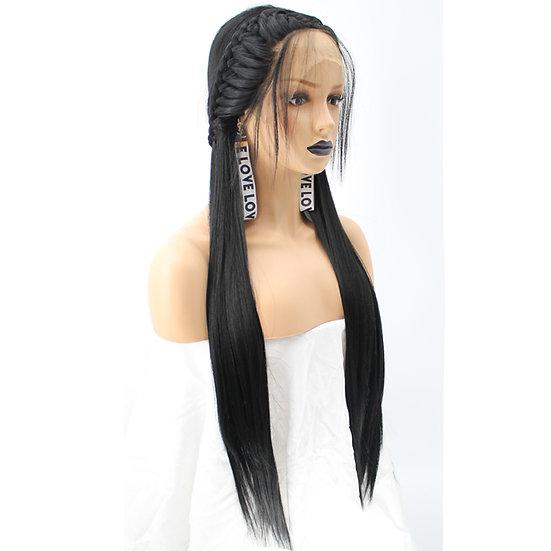Wig Black Braided