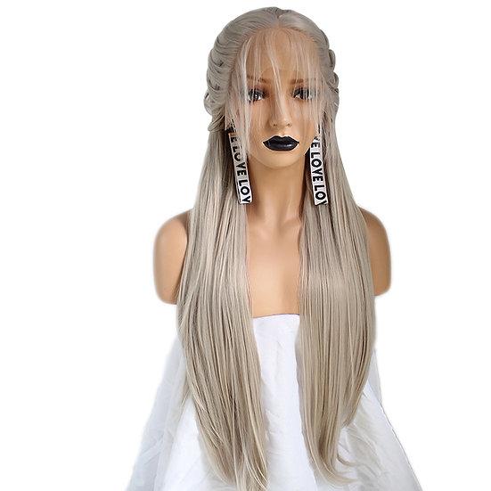 Wig Ash Blonde Braided