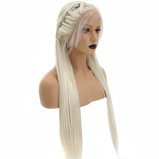Wig Platinum Blonde Braided