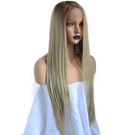 Wig Med Blonde Straight