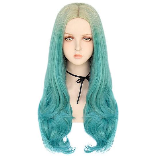 Wig Wavy Turquoise