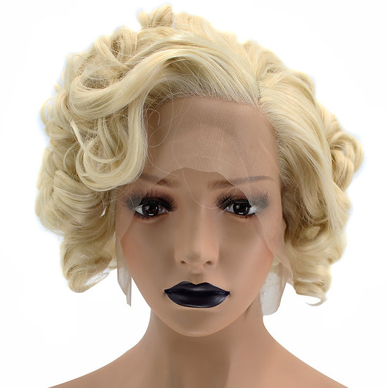 Wig Blonde Short Curly