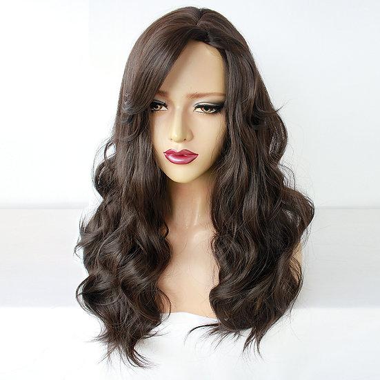Wig Wavy Long Brown