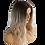 Thumbnail: Wig Wavy Mixed Blonde Dark Roots