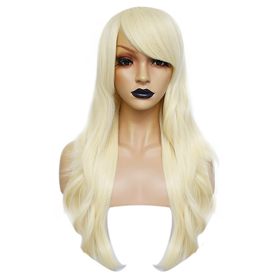 Wig Long Platinum Blonde