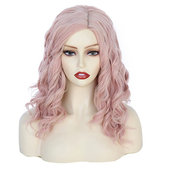 Wig Curly Pink