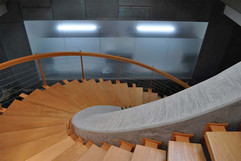 10.Detalle de la escalera helicoidal - F