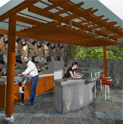 8.View of the bar and barbecue zone.jpg