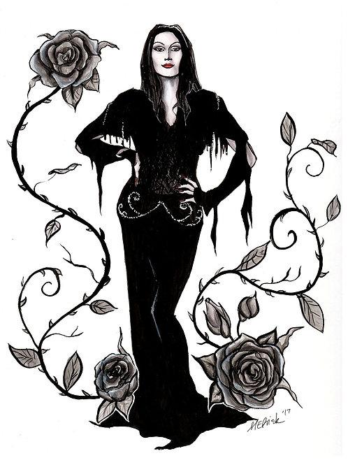 Morticia Addams - Print