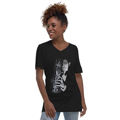 Unisex Short Sleeve V-Neck T-Shirt - Dracula